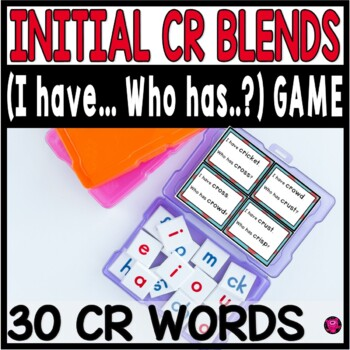 Consonant CR Blends Reading Games and Activities