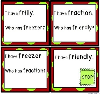 Phonics FR Blends Word Game