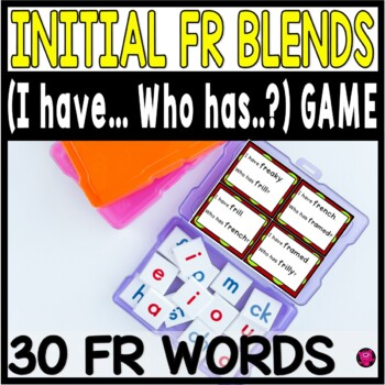 Reading Game Set for Initial FR Blends Whole Group Practic