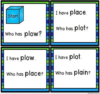 Phonics Blends Game for Initial PL