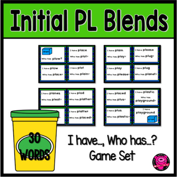 INITIAL BLENDS WITH PL GAMES FOR BEGINNING READERS