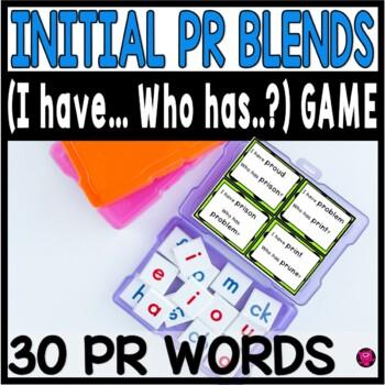 First Grade Consonant PR Blends Words Reading Activities
