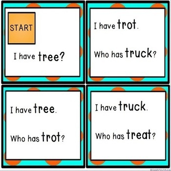 Consonant TR Blends Reading Word Game Set
