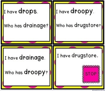 R Blends Articulation Game and Activity for DR Blend Words