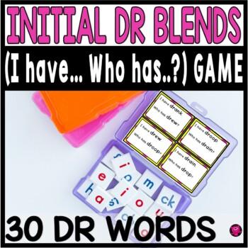 Consonant DR Blends Reading Word Game Set