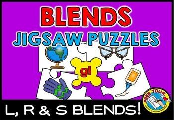 CONSONANT BLENDS ACTIVITIES (PUZZLES WORD WORK CENTER FIRST GRADE, KINDERGARTEN)