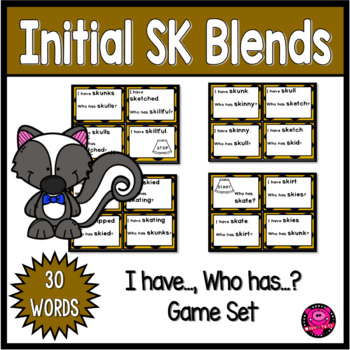 Reading Practice Games for SK Initial Blends Words