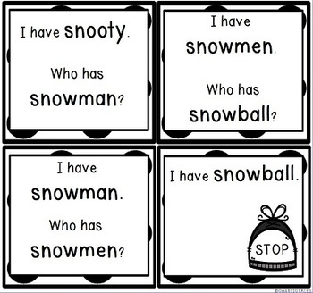 SN Initial Consonant Blends Whole Group Game Practice Activity