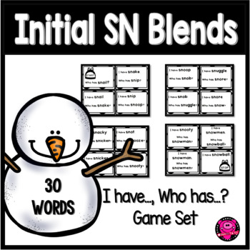 CONSONANT BLENDS with INTIAL SN PHONICS GAME SET