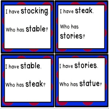 ST Blends for Whole Group Practice with Initial Blends with ST Games