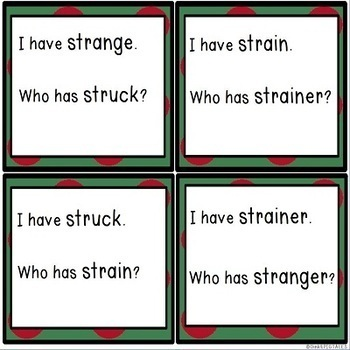 Reading Games for Tri Blend Words with Initial STR Consonant Blends