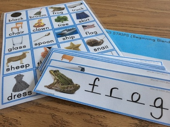 BLENDS Spelling Vocabulary Fine Motor Strips SPECIAL EDUCATION RESOURCE