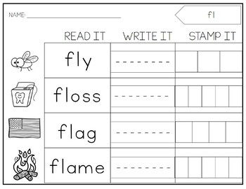 BLENDS Stamping Centers. Printable. Activities.