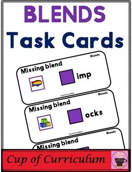 BLENDS Task Cards with Missing Blend