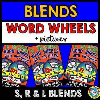 BLENDS ACTIVITIES (BLENDS WORD WHEELS WITH PICTURES BUNDLE) BLENDS KINDERGARTEN