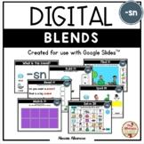 BLENDS {-sn} - DIGITAL Activities (Google Slides™)