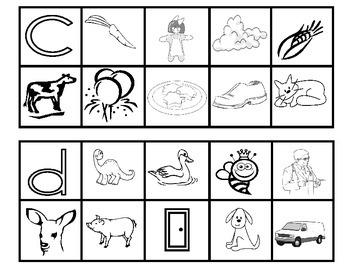 Itchy's Alphabet BLM 12 -  Pre-School Initial Sounds