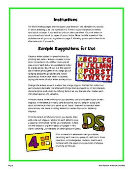 """BLOCK ALPHABET - 4"""" Upper Case and Numerals for Projects and Bulletin Boards!"""