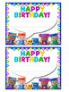 Birthday Cards BLOCKCRAFT - EDITABLE