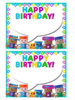 Birthday Cards BLOCKCRAFT