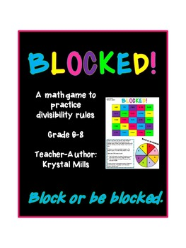 BLOCKED: Middle School Math Game for Divisibility Rules (Grade 6-8)