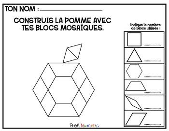 BLOCS MOSAÏQUES - 24 Cartes à Tâches (imprimer/virtuel) AUTOMNE