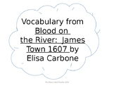 BLOOD ON THE RIVER (novel) Vocabulary Cards