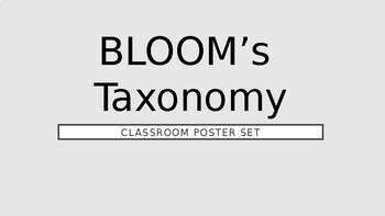 BLOOM's Taxonomy - Classroom Poster Set (available to personalise)