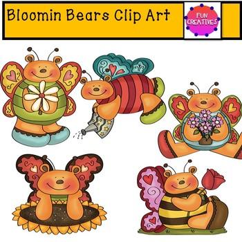 BLOOMING BEARS Clip Art