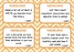 BLOOM'S READING COMPREHENSION QUESTION TASK CARDS Chevron Pastels & White