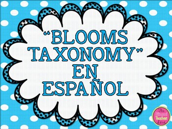 BLOOMS TAXONOMY POSTERS IN SPANISH