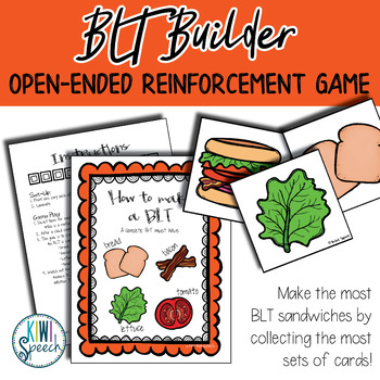 Sandwich Builder: Open Ended Reinforcement Game for Mixed Speech Therapy Groups