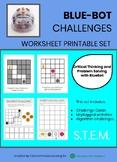 BLUE-BOT CHALLENGES - Worksheet Printable Set