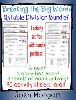 BLUE BUNDLE/VOL 2: Breaking the Big Words: Syllable Division Sets 8-13 (V/CV)