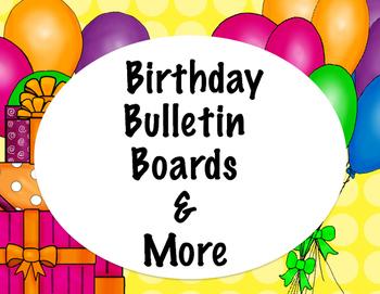 Birthday Bulletin Board Set and More Yellow Dots
