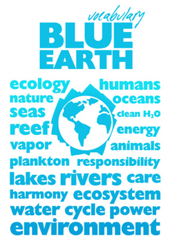 BLUE Earth Poster A4