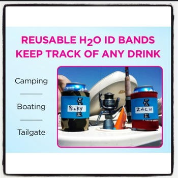 BLUE H2O ID® Reusable Colorful Water Bottle Bands, Labels, Sleeves, Wraps