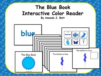 BLUE Interactive Color Sight Word Reader; Kindergarten; Special Ed.; Autism