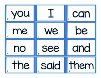 LLI Leveled Literacy Intervention Word Cards: Blue