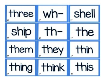 LLI Leveled Literacy Intervention Word Cards BLUE (1st Edition)
