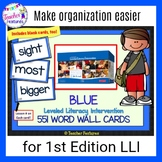 Leveled Literacy Intervention Word Cards for LLI BLUE (1st Edition)