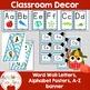 BLUE Chevron Mustache Classroom Decor -OVER 100 PAGES OF C