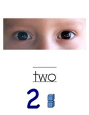 BLUE &  RED Number Posters 0-20 with # words and rods and