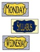 BLUE & YELLOW Classroom Small Labels for Bulletin Boards