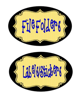 BLUE & YELLOW Classroom Theme Supply Signs