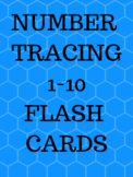 BLUE Tracing Flash Cards handwritting, Activity Center, Sp