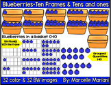 Place value clipart & ten frames-Counting Blueberries Clipart