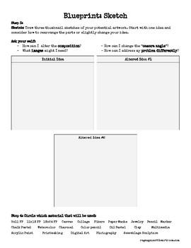 BLUEPRINT Workheet