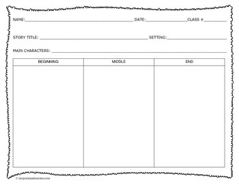 BME Graphic Organizer + Story Elements
