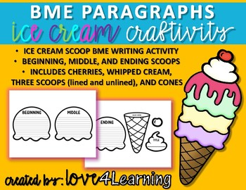 BEGINNING, MIDDLE, AND ENDING (BME) PARAGRAPH WRITING ACTIVITY (CRAFTIVITY)